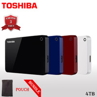 Toshiba Canvio Advance Hardisk / HDD Eksternal 4TB USB3.0 + Pouch