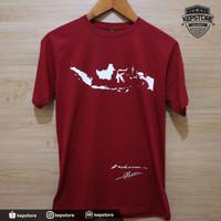 KAOS PETA INDONESIA -KAOS TSHIRT PETA INDONESIA TANDA TANGAN SUEKARNO