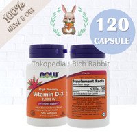 NOW Foods Food Vitamin D-3 D3 / 2,000 IU 2000IU 2000 IU / 120 240