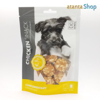 M-Pets - 80g Chicken Snack CHICKEN & RAWHIDE BALLS cemilan anjing