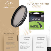 FOTGA 49 mm Slim Fader Variable Adjustable ND Filter ND2 To ND400