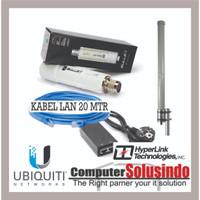 Paket BTS Hotspot Ubiquiti Bullet M2HP dan L-Com Hyperlink HG2415U