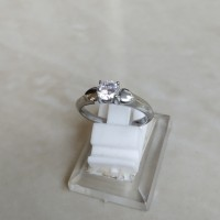 Cincin Wanita Double Love American Diamond Solitaire