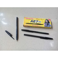 Pulpen Duo Strip Hitam 0,5mm Super Smooth & Stylish - Standard AE7