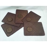Set Placemat Coaster Pandan Coklat