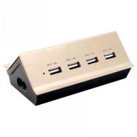 Port Charger Hub USB 4.2A Remax desain Goldhouse RU-U2 multifungsi