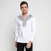 VM Kaos Panjang Putih V Neck Oblong Putih - [GK-05-Putih]