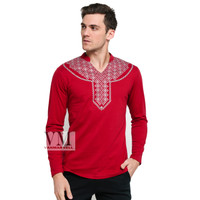 VM Kaos Panjang V Neck Oblong Panjang merah - [GK-05-RED]