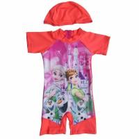 Baju Renang Bayi Gambar Karakter Frozen dengan Topi