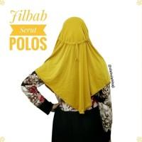 Jilbab Hijab Khimar Instan Serut Jokowi Polos Oleh Oleh Haji dan Umroh