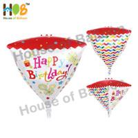 Balon Foil 4D Kubus Kotak Diamond Cube Box Happy Birthday Ulang Tahun