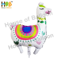Balon Foil Alpaca Animal Hewan Binatang Llama Jumbo Size 90 cm