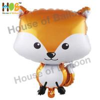 Balon Foil Animal Hewan Fox Rubah Kyubi Binatang