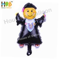 Balon Foil Graduation Wisuda Sarjana Smiley Toga kelulusan 40 cm