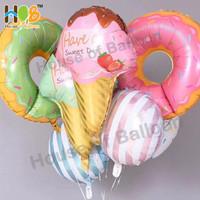 Balon Foil Ice Cream Es krim Jumbo Pink Green 70 cm