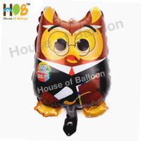 Balon Foil Graduation Wisuda Sarjana Owl Burung Hantu Toga 40 cm