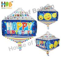 Balon Foil 4D Kubus Kotak Cube Box Happy Birthday Ulang Tahun
