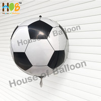 Balon 4D Foil Bola Sepak / Soccer Bulat Bundar 55 cm