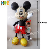 Balon Karakter Foil Mickey Minnie 3D Super JUMBO Real Life Size 170 cm