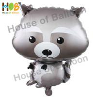 Balon Foil Animal Hewan Racoon Rakun Binatang