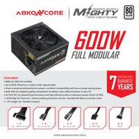 ABKONCORE MIGHTY 600W 80+ FULL MODULAR 230V EU - Power Supply