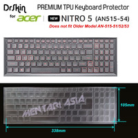 Keyboard Protector ACER NITRO 5 AN515-54 - DrSkin PREMIUM TPU Clear