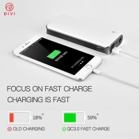 Powerbank DIVI 20.000mah Dual Port Output Fast charger QC3.0 Stok