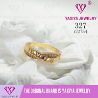 Cincin permata lapis emas perhiasan imitasi Yaxiya Jewelry 327