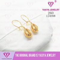 Anting Perhiasan imitasi lapis emas 18K Yaxiya Jewelry 260