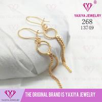 Anting Milano Lapis emas Perhiasan imitasi Gold Yaxiya Jewelry 268