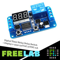 Digital Timer Relay Delay Switch + Display 0-999s 250VAC 30VDC 10A
