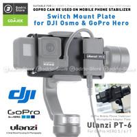 ULANZI PT-6 Smartphone Gimbal Adapter Stabilizer Mic Adapter GoPro 6 7
