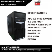 PC Rakitan Kantor Office AMD APU A6 7400 3.5 GHz 2GB 320GB
