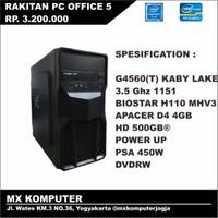 PC Rakitan Kantor Office Intel G4560 3.5 GHz 4GB 500GB