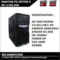 PC Rakitan Kantor Office AMD APU A8 7680 3.8 GHz 2GB 320GB