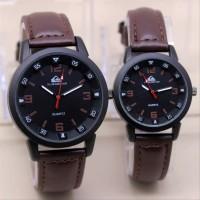 obral jam tangan couple Quiksilver pria dan wanita bagus kulit singsi