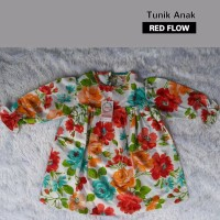 Tunik Anak Red Flowers