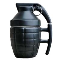 Gelas Mug Model Granat Tangan - KG4566- hitam