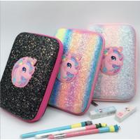 Tempat pensil smiggle lookalike EVA Hardcase Unicorn Glitter