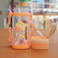 Botol air minum PLASTIK anak BPA Free 500 ml Animal