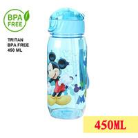 Botol air minum PLASTIK anak BPA Free 450 ml Motif Karakter Disney