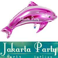 Balon Foil Dolphins Pink / Balon Karakter Lumba Lumba / Balon Animal