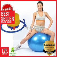 Gym ball size 65cm / Bola fitness Yoga ball BONUS Pompa angin murah