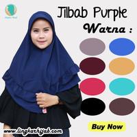 Hijab Jilbab Instan Purple - Kerudung Instan Purple Bergo