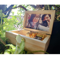 Music Box / Kotak Musik Kayu & Acriliyc OTOMATIS bisa CUSTOM FOTO