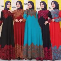 Baju Gamis Wanita Terbaru Gamis Busui Jumbo Jersey Korea 4L 8323