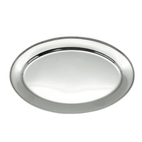 6 PCS OVAL PLATE STAINLESS STEEL / PIRING OVAL / PIRING LAUK 250 MM