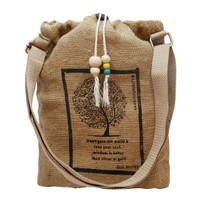 Little Fairness Tote Bag Goni Wanita Motif Pohon Beringin - Brown