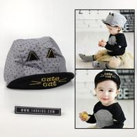 topi anak CUTE cat lucu usia 1-3 tahun IMPORT bahan bagus motif kucing