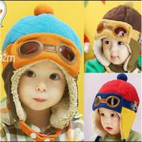 pilot hat anak warna cute/topi pilot warna cute/pilot hat bayi n anak